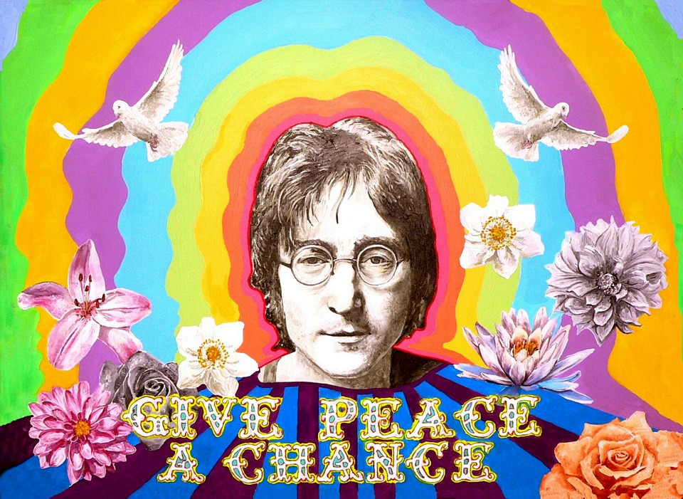 25 maart 1969: Bed-in for Peace actie John Lennon en Yoko Ono